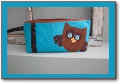 Hoot Toot Owl Travel Bag / Makeup Bag Digital Sewing Pattern + Bonus Pencil Case Pattern