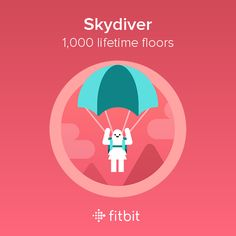 I climbed 1,000 floors with my #Fitbit and earned the Skydiver badge.
