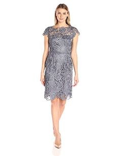 Decode 1.8 Women's Short Sleeve Lace Illusion Dress