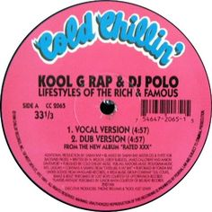 Kool G Rap & D.J. Polo - Lifestyles Of The Rich & Famous Kool G Rap, Vinyl Record Store, 2000s, Dj, Polo, Lifestyle, Poster, Polos, Tee