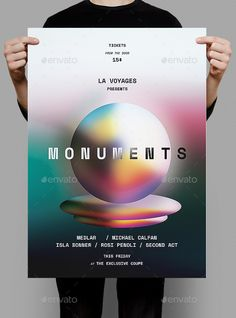 Monuments #Flyer / Poster - #Events Flyers Download here:  https://graphicriver.net/item/monuments-flyer-poster/20328963?ref=alena994