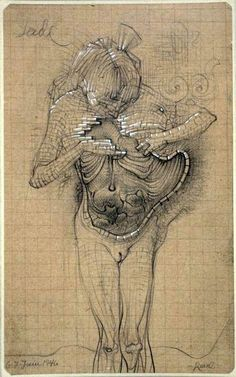 Hans Bellmer. Drawing.