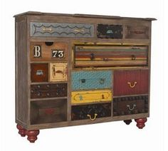 What a great bureau for the kids, especially if they can customize it themselves...