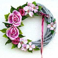 Summer Wreath, Grapevine Wreath, Grape Vines, Floral Wreath, Wreaths, Decor, Floral Crown, Decoration, Door Wreaths