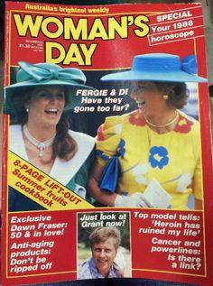 Women's Day Magazine December 28 1987, Diana, Fergie.