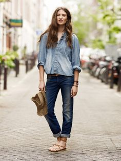 easy denim on denim look.