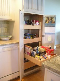 Full-height and depth pantry~love that they pull out! #Cultivateit