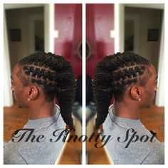 Loc Style Styled By: Maquita James Call (803)-237-1894 or Book a consultation online at: www.styleseat.com/theknottyspot #dreadstyles #dreadlockstyles #theknottyspot #styles #masterloctician #locs #locstyles #twist #barrels #barreltwist #barreltwiststyle #fishtailbraid #braidstyle #malelocstyles #malelocstyle Dreadlock Hairstyles For Men, Dreadlock Styles, Dreads Styles, Black Men Hairstyles, Dope Hairstyles, Creative Hairstyles, Braided Hairstyles, Curly Hair Braids, Curly Hair Styles
