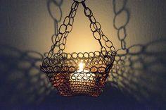 Wire Bowl Candel Holder