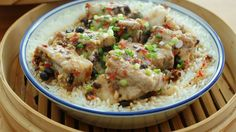 Bamboo Steamed Pork Ribs Rice - 竹蒸排骨饭