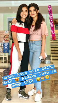 Anushka sen with avneet kaur Stylish Dresses For Girls, Stylish Girl Images, Stylish Kids, Young Celebrities, Indian Celebrities, Celebs, Girl Photo Poses, Cute Girl Pic, Celebrity