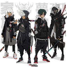 Character Design Animation, Female Character Design, Character Design References, Character Design Inspiration, Character Concept, Character Art, Arte Ninja, Ninja Art, Mode Cyberpunk