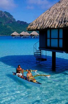 Bora Bora is my DREAM place to visit! Huts right on water, would love to visit Overwater Bungalows Le Meridien, Bora Bora Bora Bora, Vacation Places, Dream Vacations, Places To Travel, Romantic Vacations, Italy Vacation, Honeymoon Destinations, Dream Vacation Spots, Romantic Travel