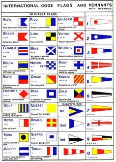 Nautical Flag Alphabet, Nautical Flags, Marine Flag, Nautical Marine, Sailboat Living, Living On A Boat, Flag Code, Fishing Vessel, Flags Of The World
