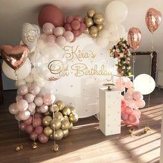 Birthday Design, Diy Birthday, Birthday Parties, Birthday Balloon Decorations, Birthday Backdrop, Balloon Garland, Balloons, Party Organization, Partys