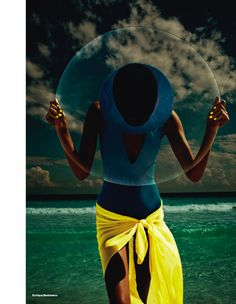 colour ocean scene: dewi driegen by enrique badulescu for uk elle may 2013   visual optimism; fashion editorials, shows, campaigns & more!