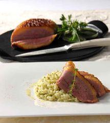 Rezept von Franco Luise: Risotto mit Entenbrust und Gartenkräutern