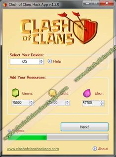 Clash of Clans Hack App - Used to generate unlimited amounts of Gems, Gold and Elixir. This cheat tool can be found on it's official website:  http://clashofclanshackapp.com