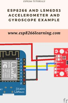 and accelerometer and gyroscope example using the arduino ide Esp8266 Projects, Electronics Projects, Arduino, Learning, Digital, Online Deals, Education, Teaching