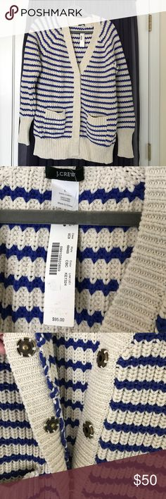 J. Crew oversized grandpa sweater NWT L cotton Super cute oversized J.crew cotton cardigan grandpa sweater. Soft, perfect for lounging on Saturday, keeping warm at the camp fire, or layering everyday! NWT size L J. Crew Sweaters Cardigans