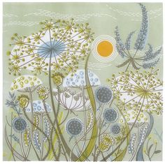 Green Meadow by Angie Lewin