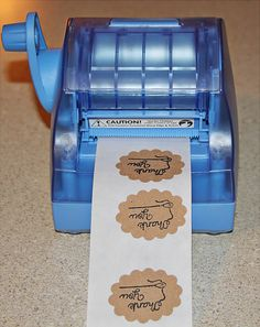 "Make your own stickers for wedding ""welcome bags"" and for the invitations for our return address"