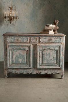 Lyon Sideboard - Two Door Chest, Antique Linen Chest, Vintage Linen Chest   Soft Surroundings