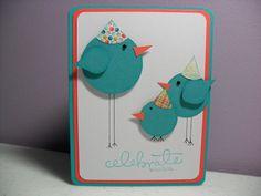 Handmade Birthday Card - Birdie Birthday Card