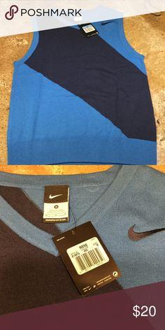 Men's Nike golf sweater vest ⛳️🏑⛳️🏑⛳️🏑 NWT Nike golf sweater vest. Navy blue and royal blue Nike Sweaters V-Neck