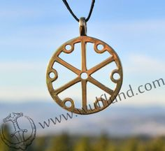 GROMOVITI ZNACI, Thundermarks of Perun, brass pendant