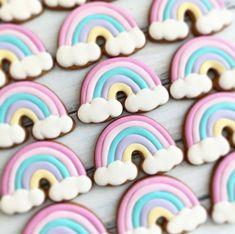 Birthday Cookies, Unicorn Birthday Parties, Birthday Party Favors, Unicorn Party, Rainbow Sugar Cookies, Sugar Cookie Royal Icing, Rainbow Party Favors, Rainbow Party Decorations, Rainbow First Birthday