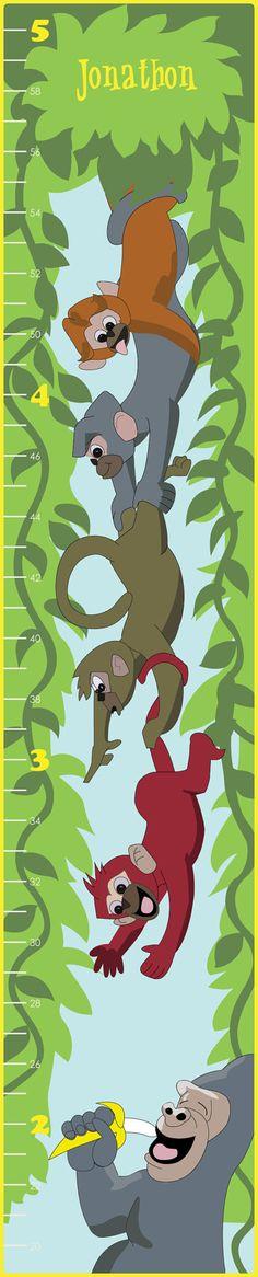 Bananas Children's Growth Chart  Personalized by KidzGrowthCharts, $39.99