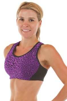 fded425fd8c33 Sturdy Girl Sports Miami Bra 38D Deep Orchid Leopard -- You can get  additional details