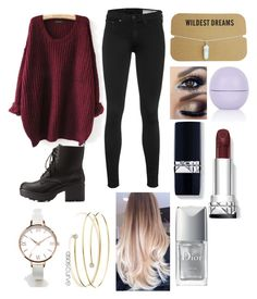"""""""Untitled #69"""" by eggcup123 ❤ liked on Polyvore featuring мода, rag & bone, Charlotte Russe, Topshop, Elsa Peretti, ASOS Curve и Christian Dior"""