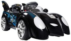 Electric Batmobile Battery Operated 6V Flashing Light Music Sounds 2 Gears Pedal #ElectricBatmobile