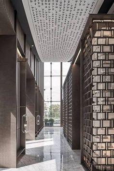 极致高级灰,演绎超有格调的东方人文艺术馆-文化频道-手机搜狐 Best Ceiling Designs, Hotel Corridor, Corridor Design, Lobby Design, Interior Decorating, Interior Design, Hotel Interiors, Space Architecture, Scenic Design