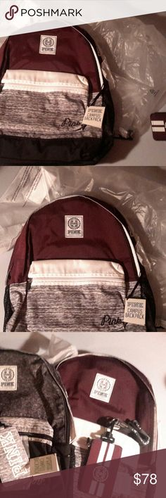 Victoria secret burgundy marl campus back pack! Nwt, just in time for school! Matching lanyard in my listings! victoria secret pink Bags Backpacks