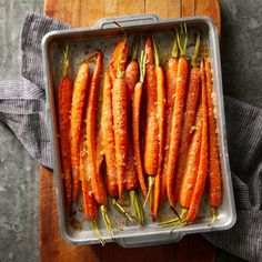 Roasting carrots in the oven brings out their inherent sweetness, while Parmesan and garlic give this easy side dish a flavorful savory accent. #kidfriendly #recipe #eatingwell #healthy