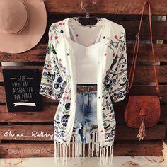 """334 curtidas, 6 comentários - lojas Ralbby (@lojas_ralbby) no Instagram: """"Bom dia! Kimono lindo, já disponível! Várias cores!!! - - Kimono tam único $54,90 Cropped $39,90…"""""""