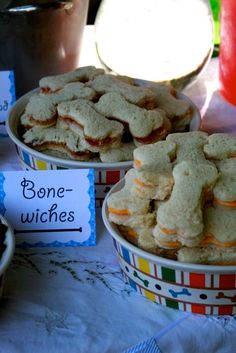 21 Paw Patrol Birthday Party Ideas - Paw Patrol Bone Sandwiches