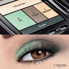 5 easy steps to Playful Eyes in Mint Jolie  #LancomeEyes