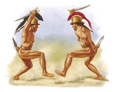 A Ritual Roman Dance, 8-7th century BCE - the Villanovan Period. Artwork by Johnny Shumate.