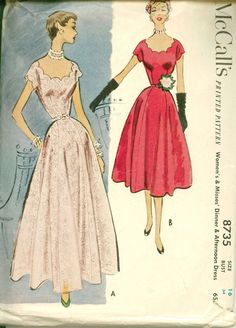 1950's Vintage Sewing Pattern  BREATHTAKING by shellmakeyouflip, $36.00