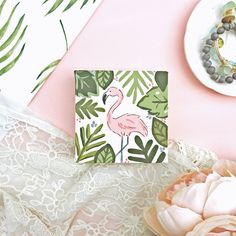 Tropical Flamingo Canvas