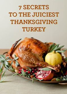 7 Secrets To The Juiciest Turkey Ever - not just at Thanksgiving either. I cook turkey several times a year. I buy as many as I can at Thanksgiving when the prices are at their lowest and freeze them to cook later. Thanksgiving Truthan, Thanksgiving Turkey Recipes, Easy Turkey Recipes, Pumpkin Recipes, Easy Recipes, Holiday Recipes, Dinner Recipes, Christmas Desserts, Snack Recipes