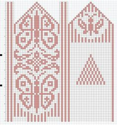. Crochet Mittens Free Pattern, Jumper Knitting Pattern, Tapestry Crochet Patterns, Knit Mittens, Knitting Charts, Crochet Chart, Knitting Socks, Hand Knitting, Knitting Patterns
