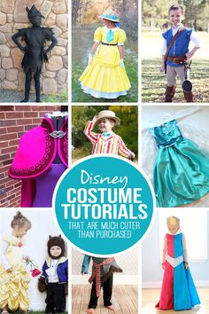 28 DIY Disney Costume Tutorials...that are MUCH cuter than purchased! Make your own costumes and LOVE them!