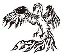 Masculine Tattoo Designs for Men and Guys - Best Tribal Phoenix Tribal Tattoos, Tribal Phoenix Tattoo, Phoenix Bird Tattoos, Phoenix Tattoo Design, Body Art Tattoos, Tattoos Skull, Bird Tattoo Men, Black Bird Tattoo, Bird Drawings