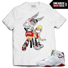 42e78dc8626 Jordan 7 Hare shirts to match