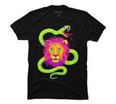 Personalized T Shirt Custom T Shirt Broadcloth Paper Lion Men's Graphic T Shirt - Design By Humans